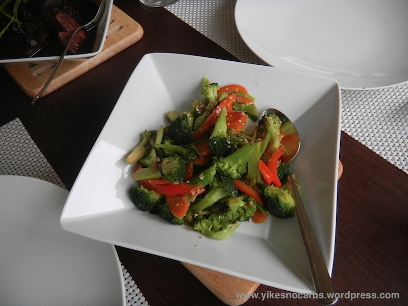 Broccoli and Red Pepper Stir Fry with Ginger and Sesame